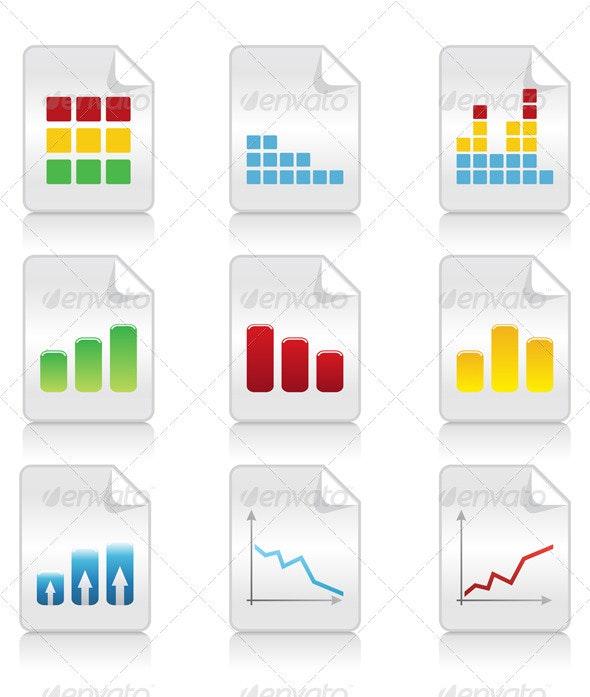 Icons of schedules2 - Web Elements Vectors