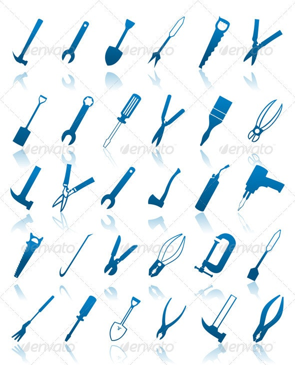 Icons of tools - Miscellaneous Vectors