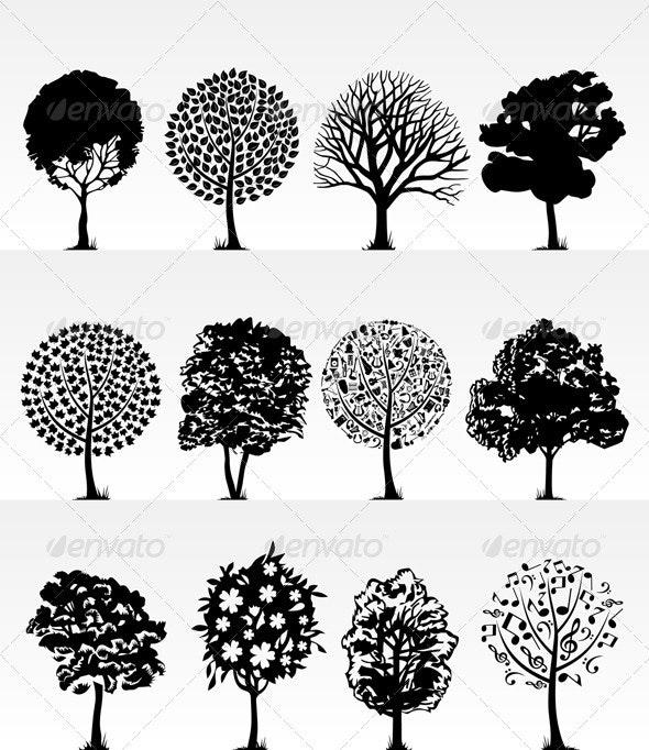 Park trees2 - Flowers & Plants Nature