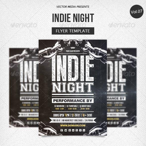 Indie Night - Flyer [Vol.7]