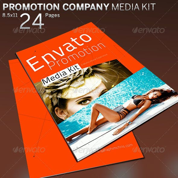 Promotion Company Media Kit Booklet Template
