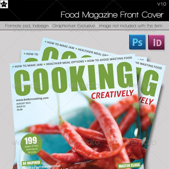 Food Magazine Front Cover