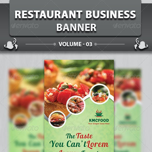 Restaurant Business Banner | Volume 3