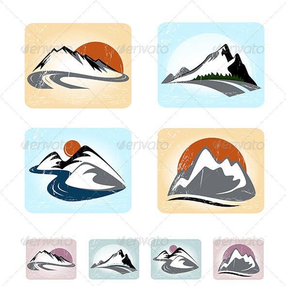 Mountains Emblem Set