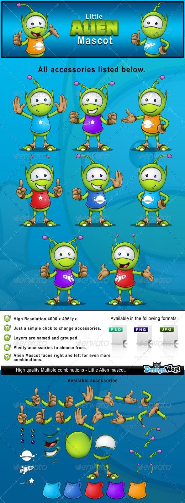 Little Alien Mascot - Characters Illustrations
