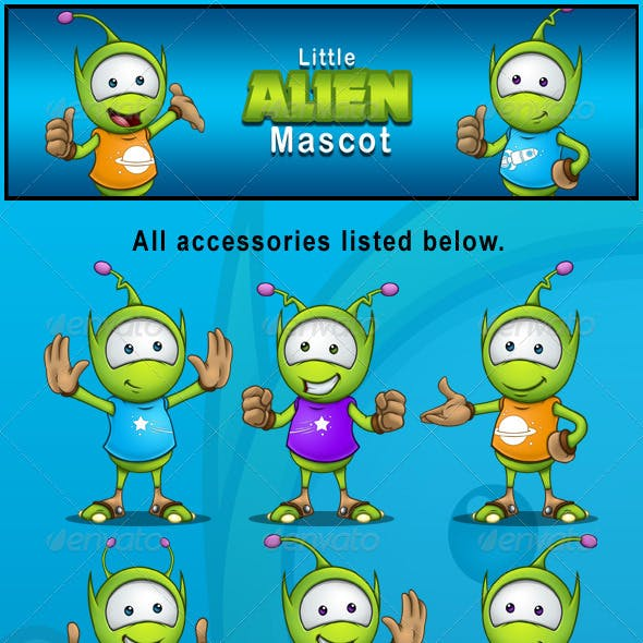 Little Alien Mascot