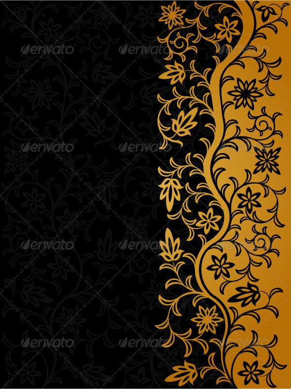 Vintage floral background - Backgrounds Decorative