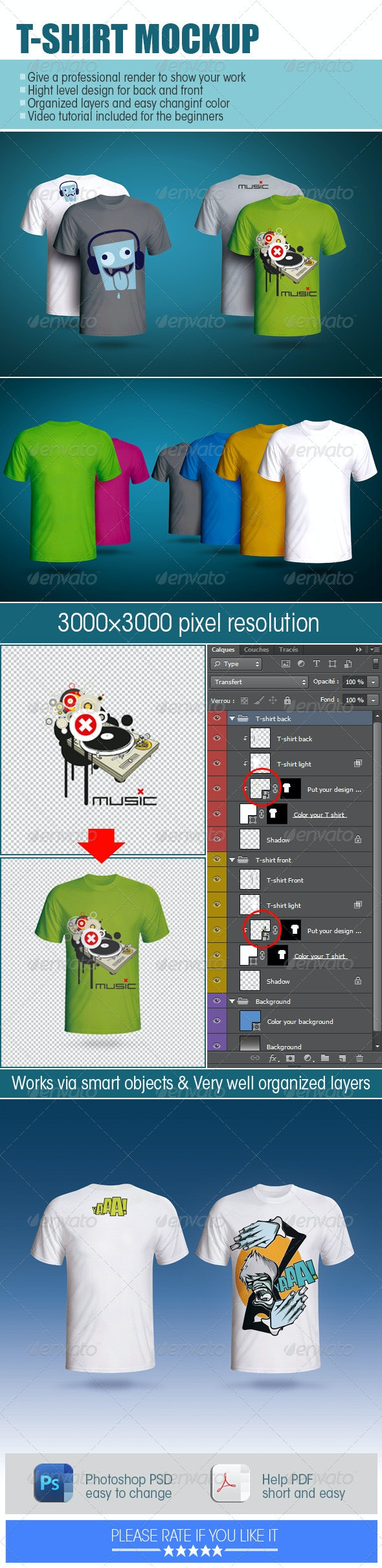 T-shirt Mockup - Product Mock-Ups Graphics