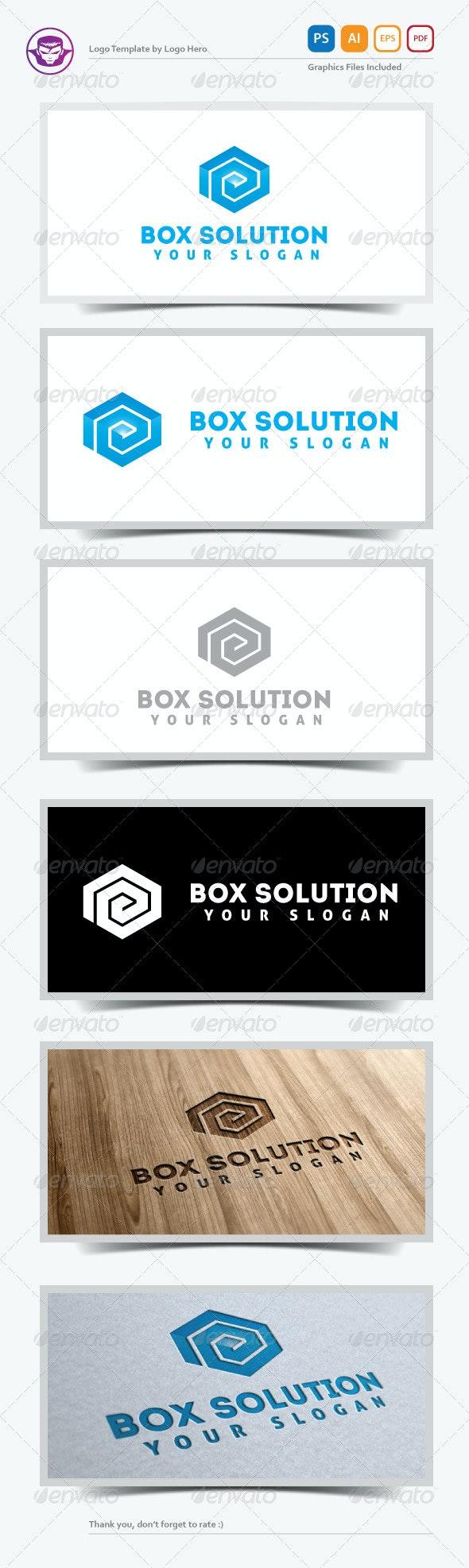 Box Solution Logo Template