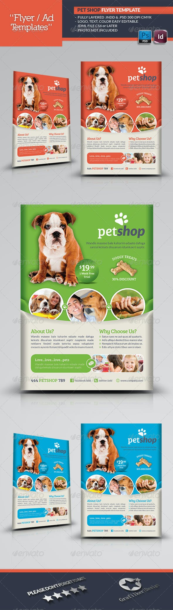 Pet Shop Flyer Template By Grafilker Graphicriver