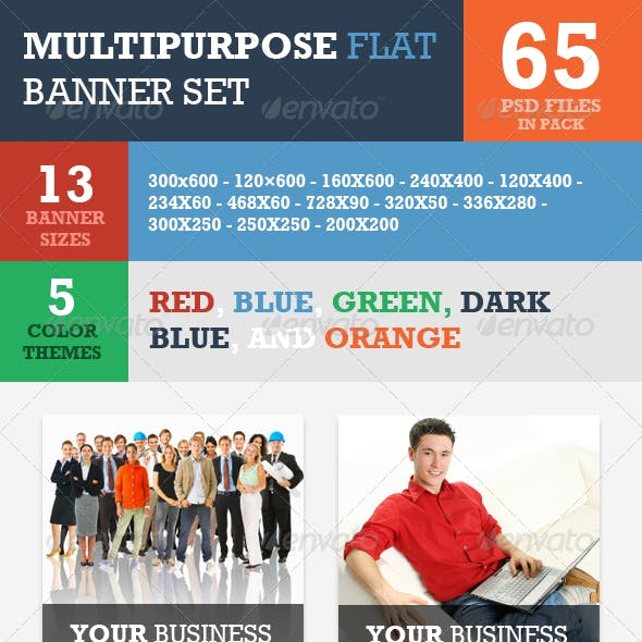 Multipurpose Flat Banner ad Set