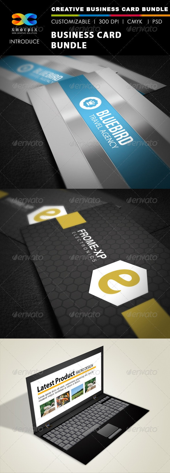 Business Card Bundle 3 in 1-Vol 16 - Corporate Business Cards