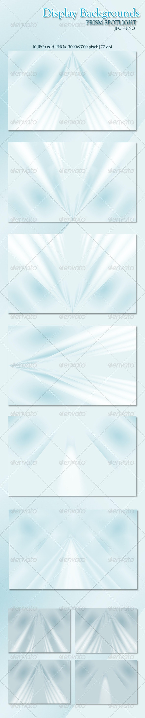 Display Backgrounds with Prism Spotlight (JPG + PN - Backgrounds Graphics