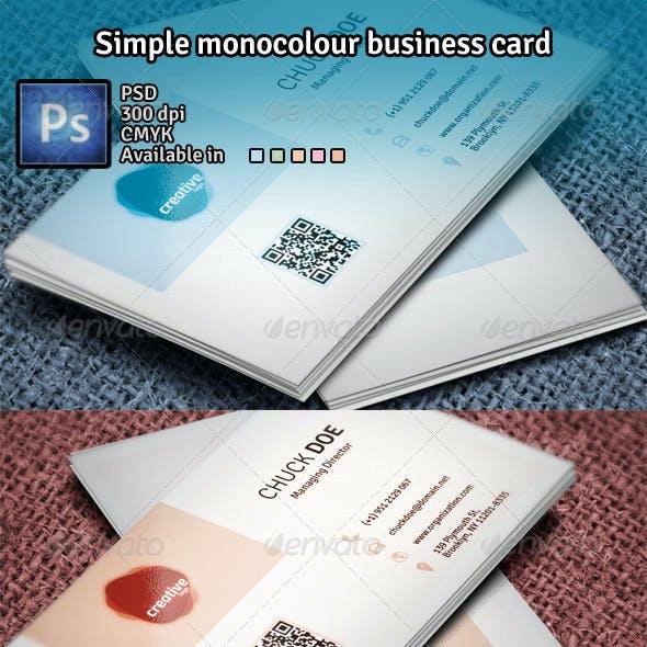 Simple Monocolour Business Card