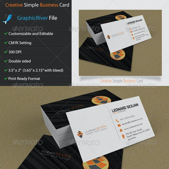 Creative Business Card - Cubes Seven