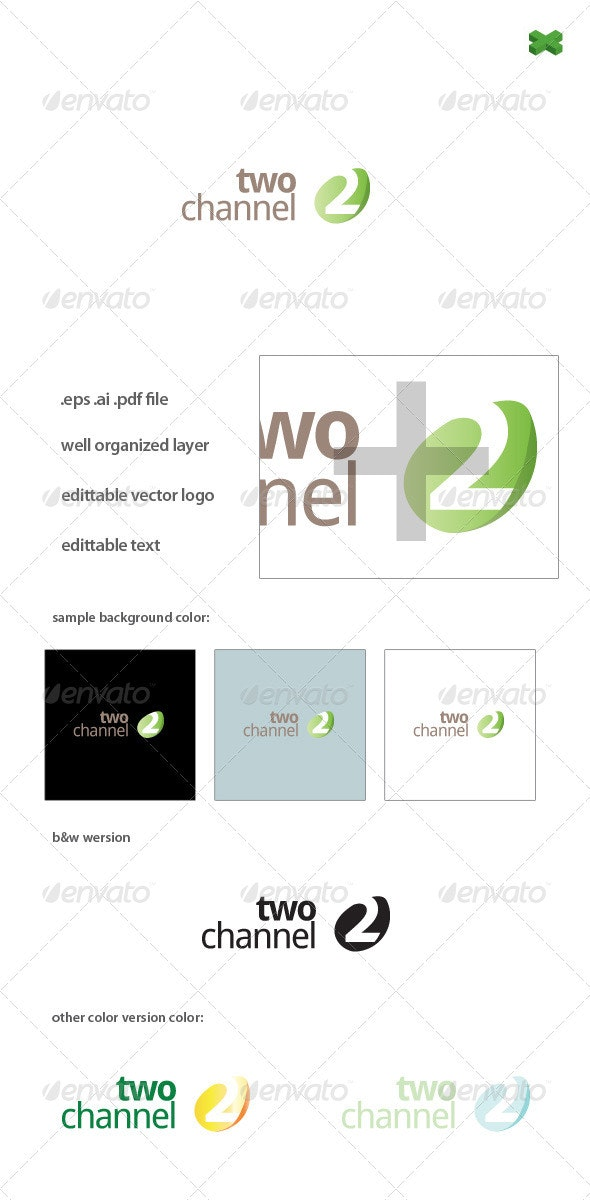 Two Channel Logo - Numbers Logo Templates