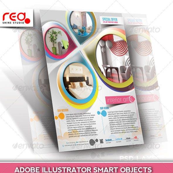 Architecture & Interior Decorator Flyer Template