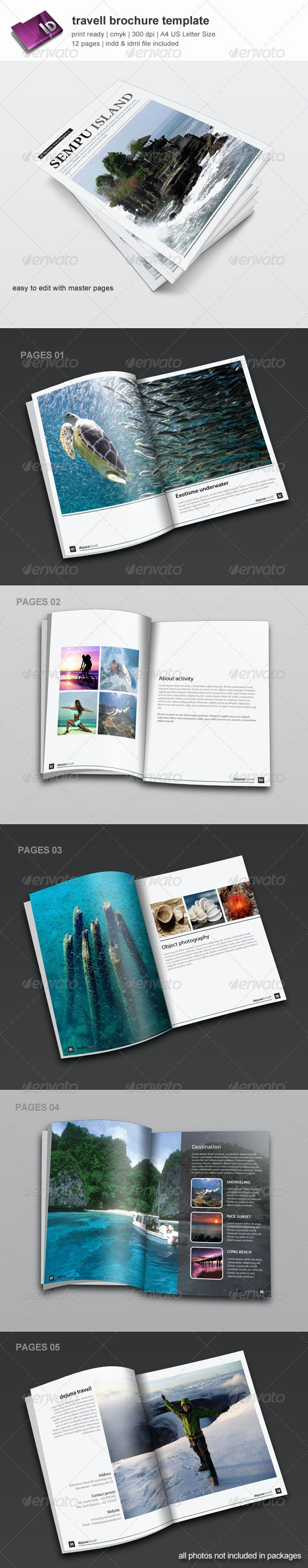Travell Brochure Template - Informational Brochures