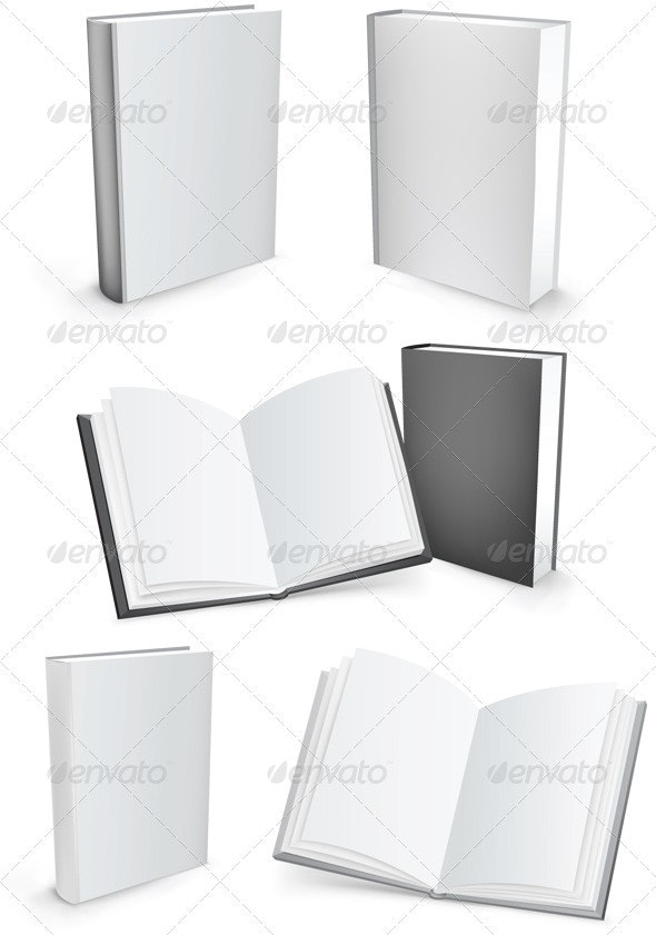 Vector books - Objects Vectors