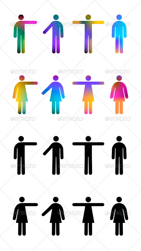 People Pictograms - People Characters