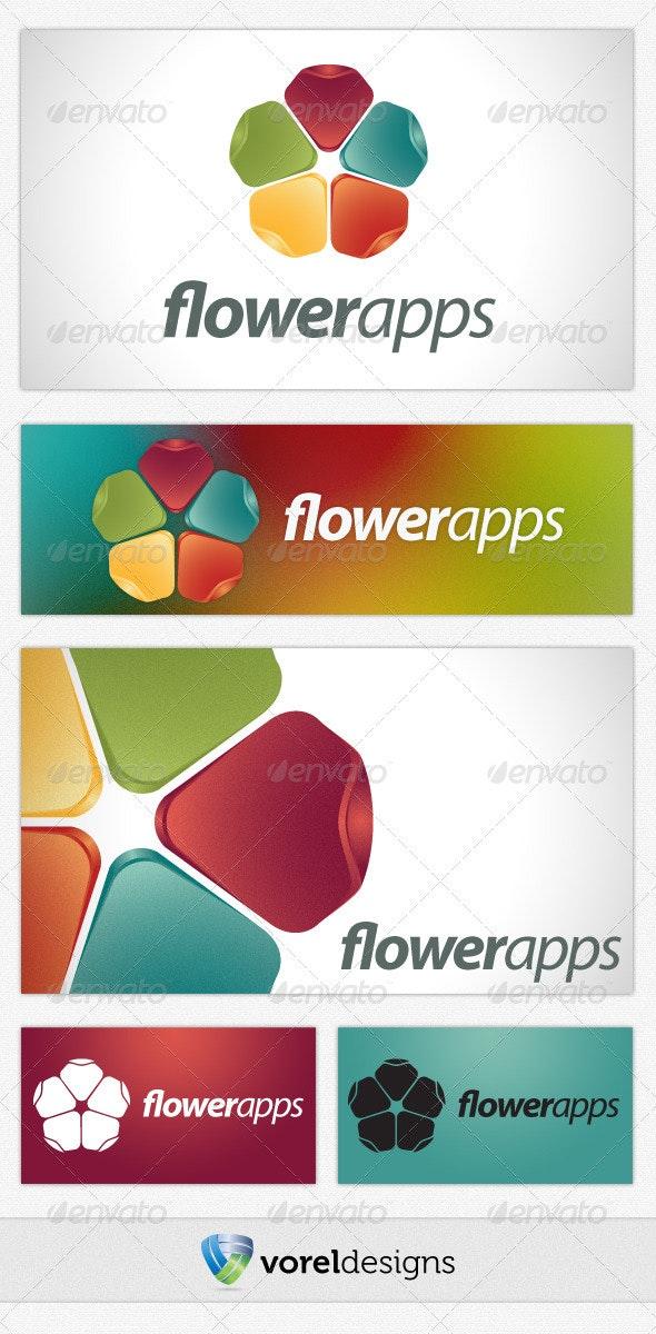 Flower Apps - Symbols Logo Templates