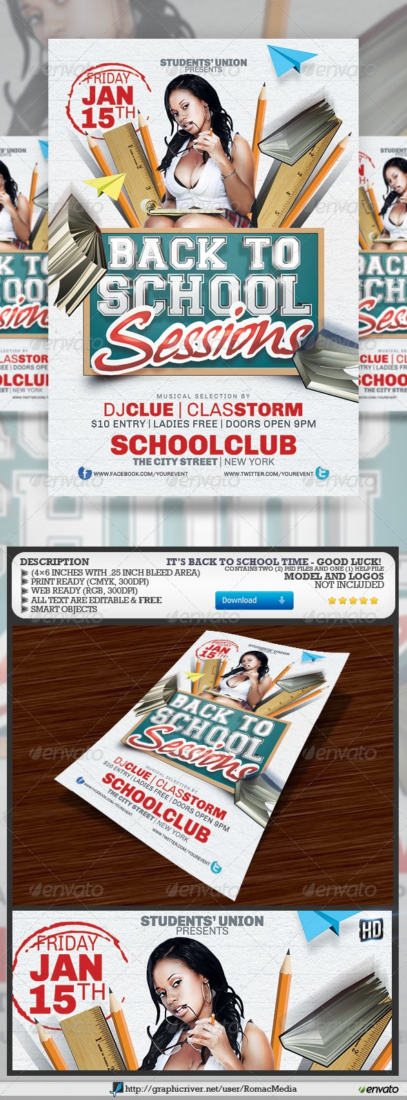 Back to School Sessions - Clubs & Parties Events