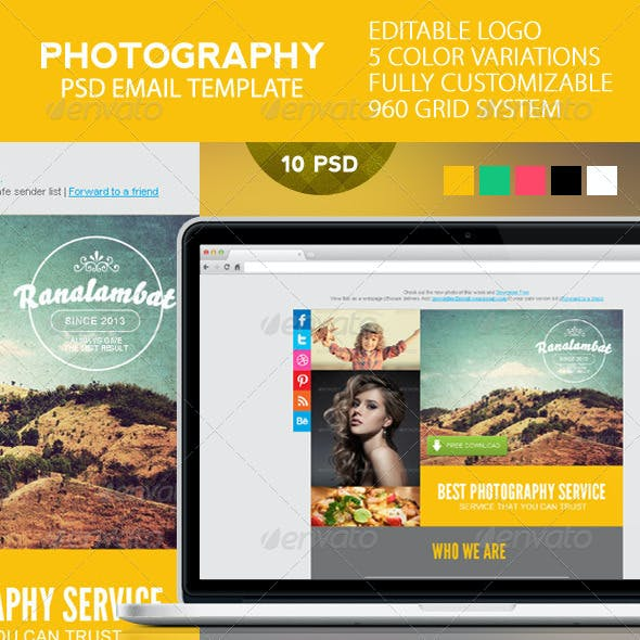 Photography PSD Email Template