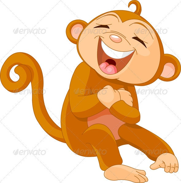 Laughing  monkey - Animals Characters