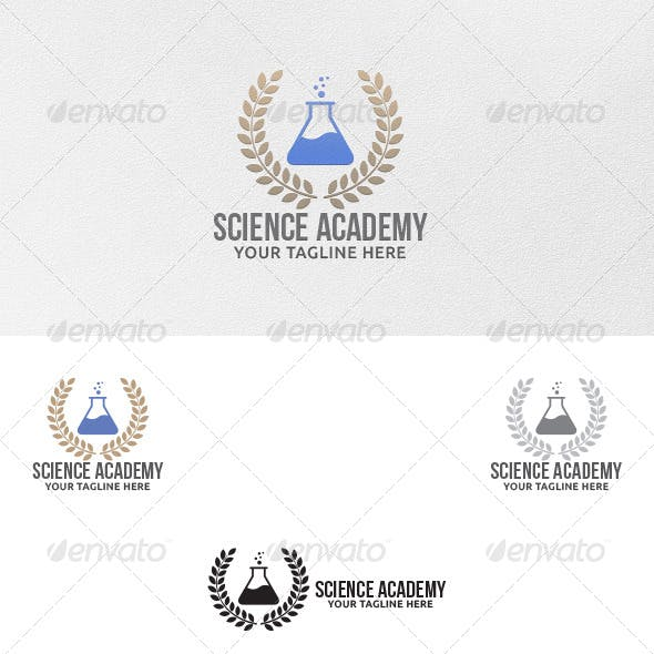Science Academy - Logo Template