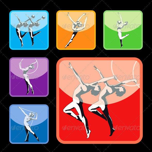 Gymnastics Silhouettes Set - Sports/Activity Conceptual