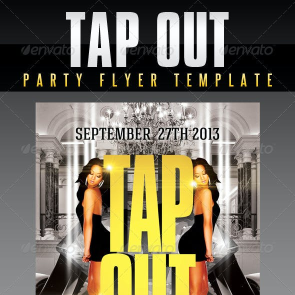 Tap Out Party Flyer Template