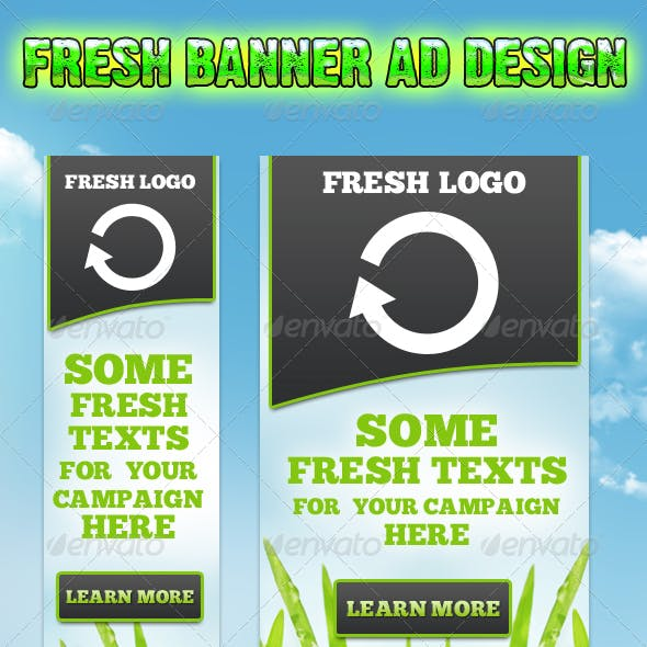 Fresh Banner Campaign Set