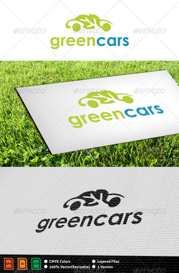 Greencars Logo Template - Objects Logo Templates