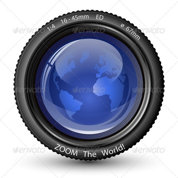Zoom the World! Vector Camera Lens - Media Technology