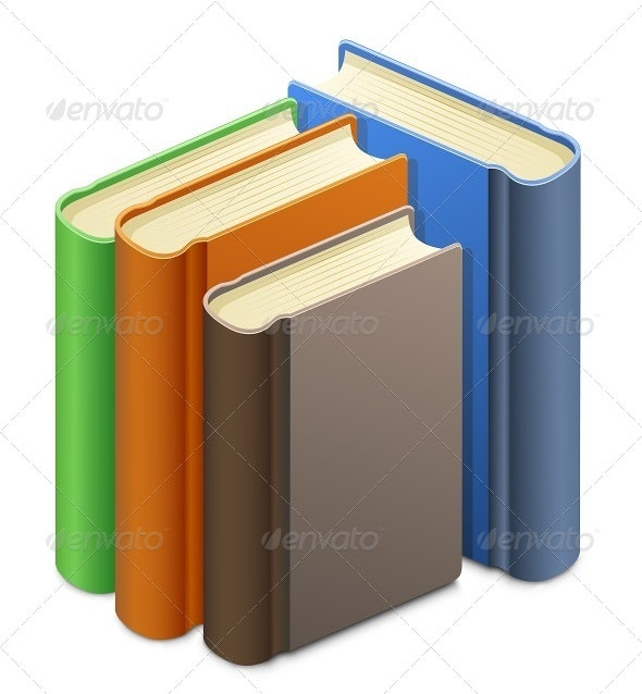 Group of Books - Characters Vectors
