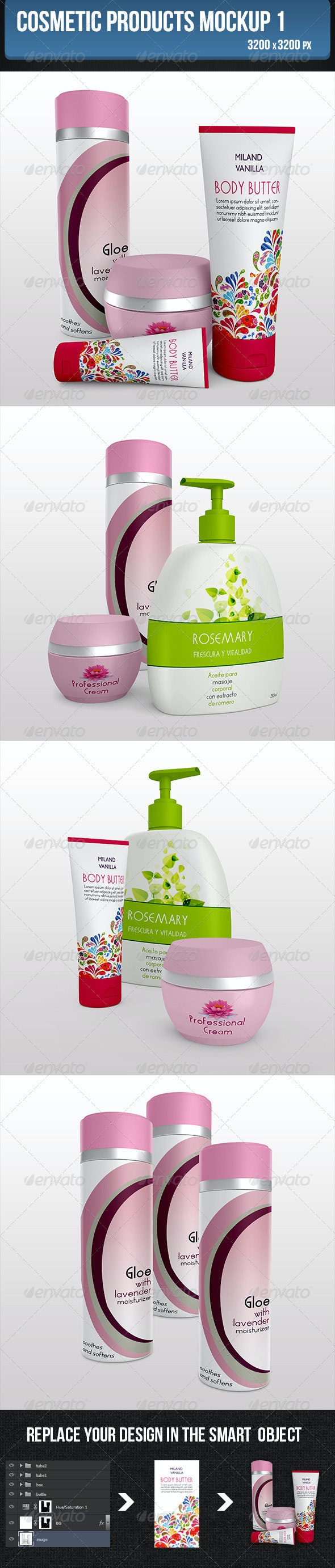 Cosmetic Products Mockup 1 - Product Mock-Ups Graphics