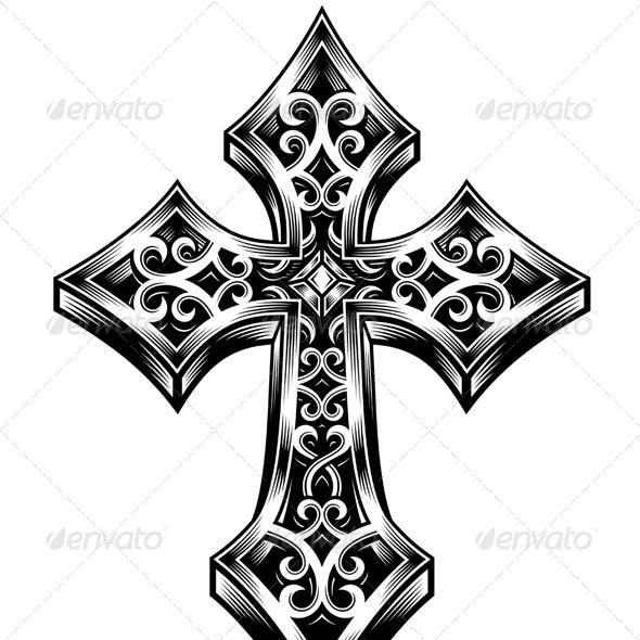 Ornate Celtic Cross Vector