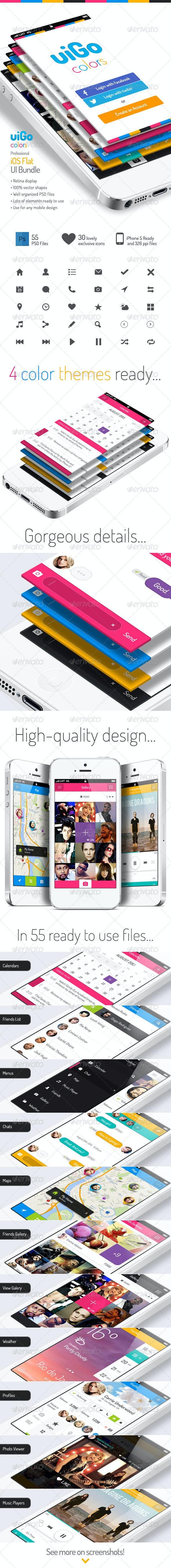 uiGo Colors » iOS Flat UI Bundle - User Interfaces Web Elements
