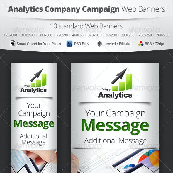 Analytics Company Campaign Web Banners