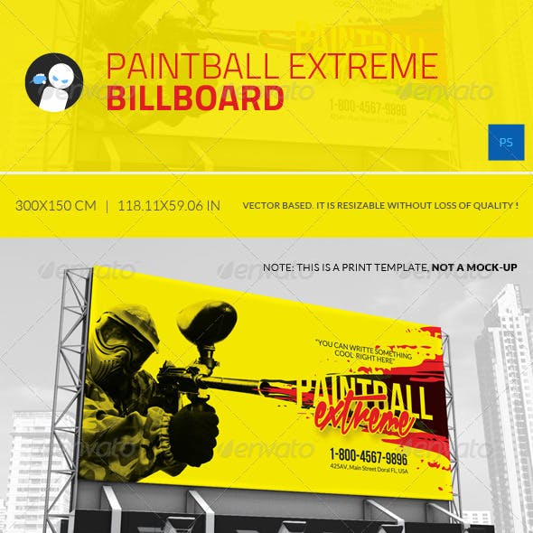 Paintball Extreme - Billboard