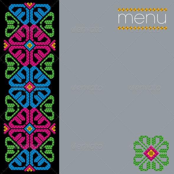 Traditional Mexican Menu Design - Decorative Symbols Decorative