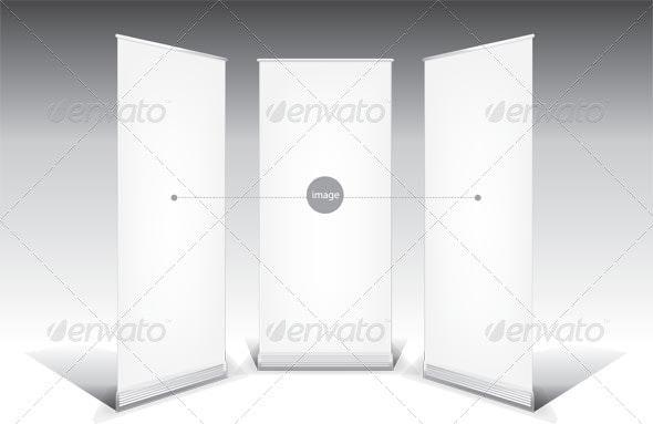 Roll Up Banner Template - Conceptual Vectors