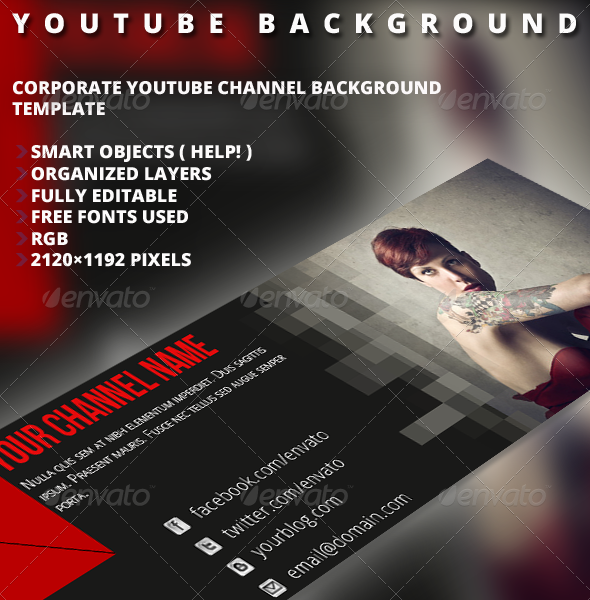 Youtube Background Vol.2 - YouTube Social Media