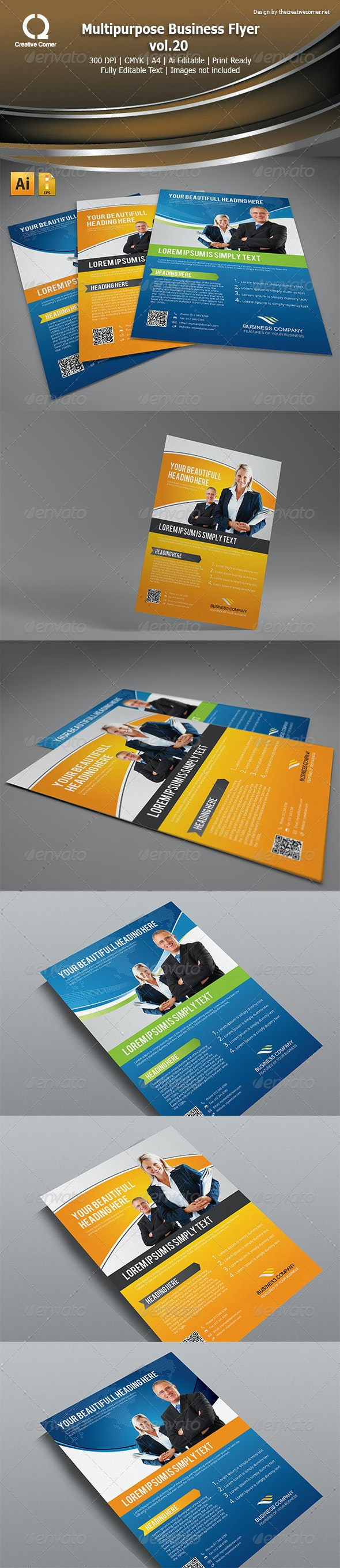 Multipurpose Business Flyer vol.20 - Corporate Flyers