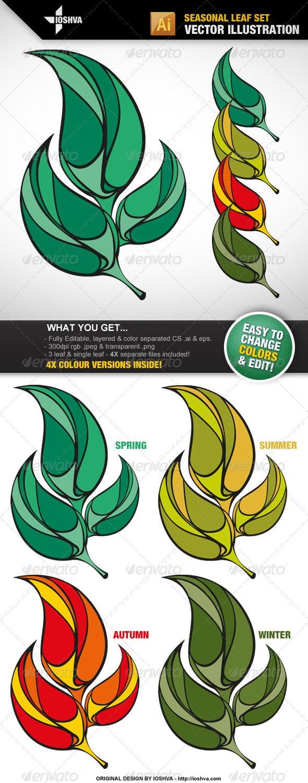 Seasonal Leaf Set - Seasons Nature