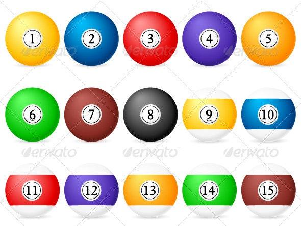Pool Balls - Sports/Activity Conceptual