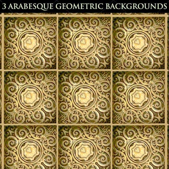 3 Arabesque Geometric Backgrounds