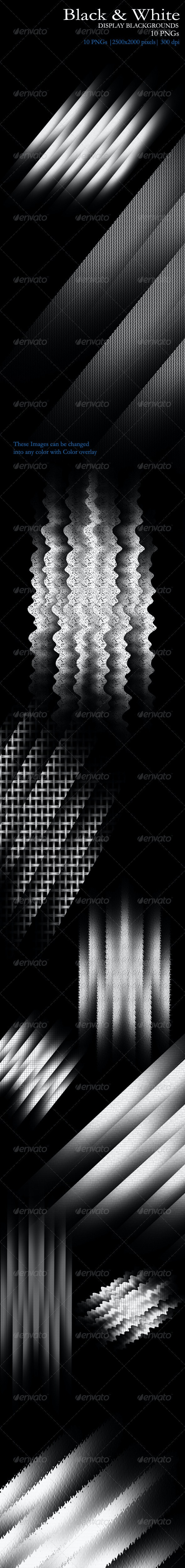 Black & White Display Backgrounds (PNG) - Backgrounds Graphics