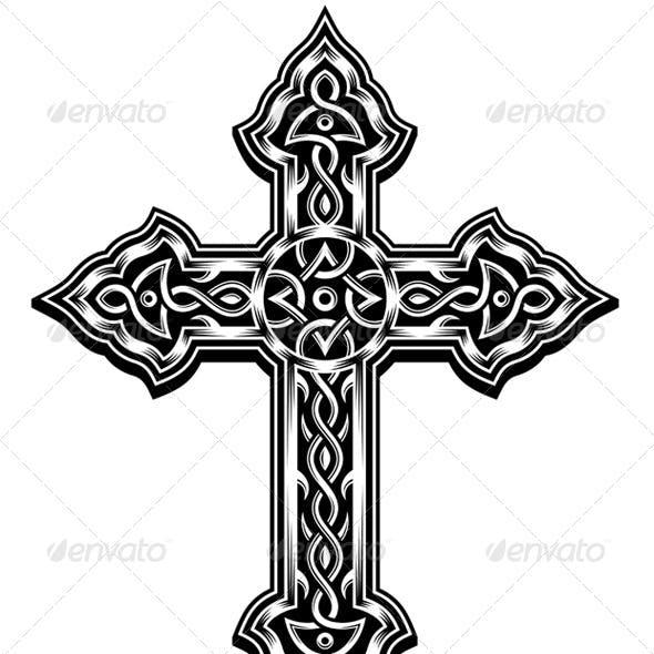 Ornate Cross Vector