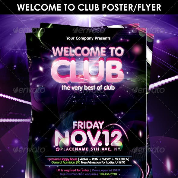 Welcome to Club Poster/Flyer Template